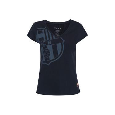 90b6842d6a40f Camiseta Barcelona Brasão - Feminina - AZUL ESCURO Barcelona
