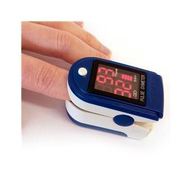 Oximetro Digital de Dedo Medidor Portátil de Saturação de Oxigênio no Sangue