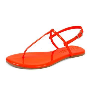 Sandália Rasteira Mercedita Shoes Verniz Laranja Cenoura Ultra Macia AREIA, GELO, BORGONHA ,CARAMELO, LAVANDA, AZUL MARINHO, AZUL DENIN, MARSALA, OPALA, PRETO, UVA, VERDE ÁGUA, PRATA, DOURADA feminino