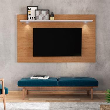 Painel Home Para Tv Até 70 Polegadas Itapuã - Natura Real com Off White