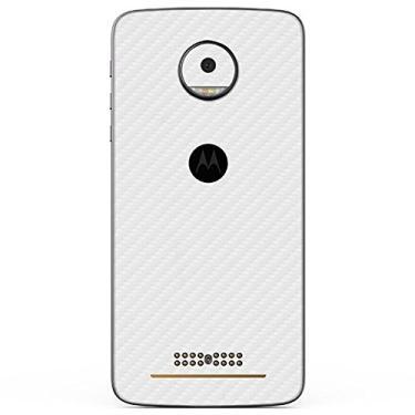Adesivo Skin Premium - Fibra de Carbono Motorola Moto Z (Branco)