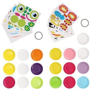 TOYANDONA Kit de arte para placa de papel, desenho animado, bandeja de papel, artesanato, materiais artesanais, pacote de presente, brinquedos de aprendizagem pré-escolar, 20 peças