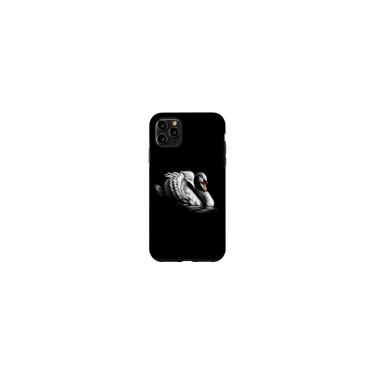 Imagem de IPhone 11 Pro Max Swan Lover Head Portrait black background Theme Animal Case Importado