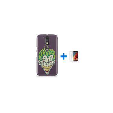 Kit Capa TPU Moto G4 Play Coringa Joker Why so Serious? + Pel Vidro (BD30)