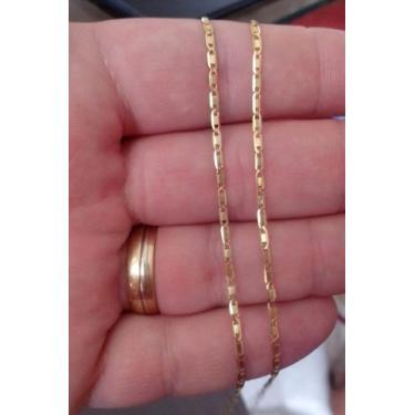 Cordão Masculino Piastrine Maciça 60cm Em Ouro 18k-750 - Dg presentes