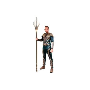 Imagem de Fantasia Aquaman Adulto Luxo Com Músculos Liga da Justiça