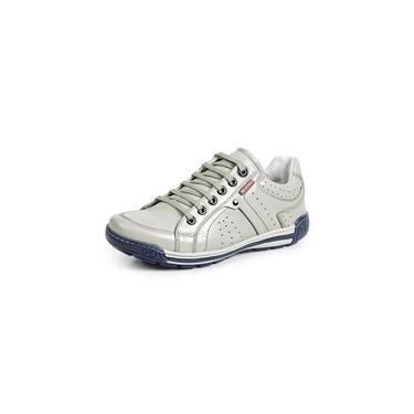 Sapatênis Tênis Couro Natural Linha Conforto Reverso - 3019 - Off White