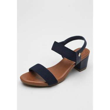 Sandália Usaflex Lisa Azul-Marinho Usaflex Y8204 feminino