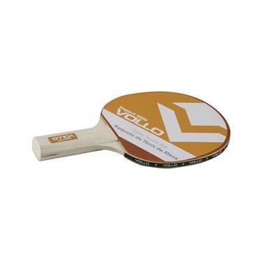 Raquete de Tênis Mesa Vollo Sports Impact 1000 Madeira e Borracha – Preto/Vermelha