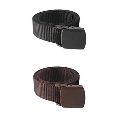 #N/a 2x Cinto Unissex Tático Nylon Tecido Trabalho Cintura Calça Policial Militar Cintura