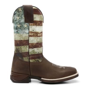Bota Texana Fossil Cano De Pintura Estados Unidos - Masculino 6102cd43549