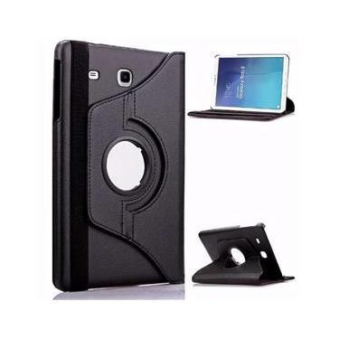 0157bfb2e0f76 Capa Tablet Samsung Galaxy Tab E 9.6 T560 T561 T565 Couro Sintético  Giratória