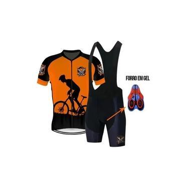 Roupa Conjunto Bike Ciclismo Camisa Bretelle Ou Bermuda Gel
