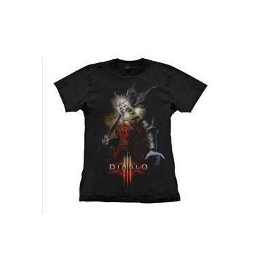 6c6c02b99c Camiseta Feminina Diablo - Skeleton King