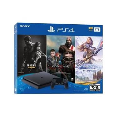 Console Playstation 4 1Tb Com 3 Jogos The Last, God E Horiz