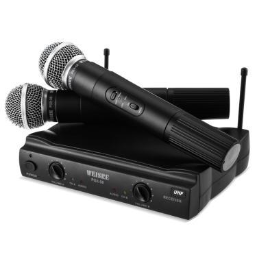 Microfone Profissional Duplo Sem Fio Weisre Pgx-51 Uhf