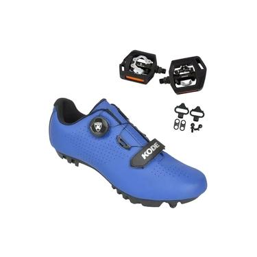 Sapatilha Mtb Ciclismo Kode Enduro Azul + Pedal Shimano T421
