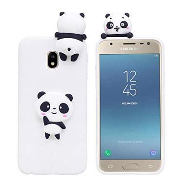 Capa para Galaxy J5 2017, YINCANG Capa protetora de silicone flexível de TPU flexível à prova de choque para Samsung Galaxy J5 2017/Galaxy J5 Pro (2017) 5,2 polegadas Panda branco