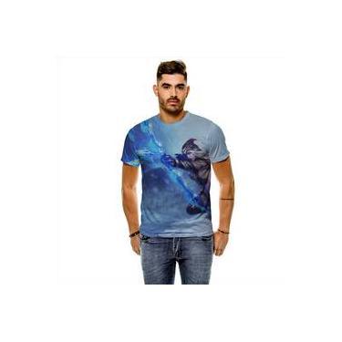 Camiseta League Of Legends Ashe Arqueira De Gelo Masculina Slim