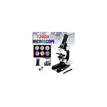 Microscópio Biológico Infantil Monocular Iluminado Zoom 1200X