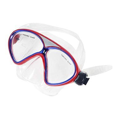 Kit Mergulho Máscara e Snorkel Winmax Silicone - Vermelho - WMB07521A - Ahead Sports
