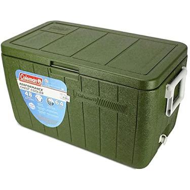 Caixa Térmica Cooler Tampa Articulada Coleman All Green 48QT