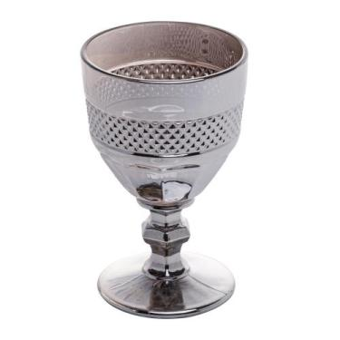 Imagem de Conjunto 6 Taças Vidro Para Vinho Mirano Cinza 210Ml - Bon Gourmet