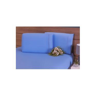 Imagem de Conjunto De Fronhas 100% Algodão 200 Fios 4 Peças Azul