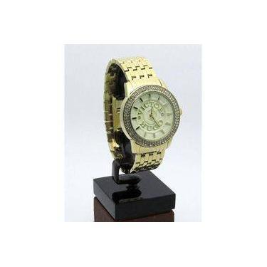9003517b8ce Relógio Victor Hugo Dourado Médio Feminino Fundo