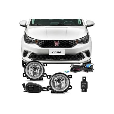 Farol De Milha Auxiliar Fiat Argo 2017 2018 Fiat Cronos 2018 Auxiliar Neblina Acompanha Botão