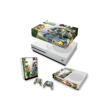 Capa Anti Poeira e Skin para Xbox One S Slim - Plants Vs Zombies Garden Warfare