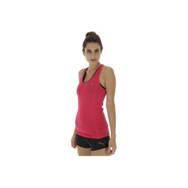 62b0e32a88 Camiseta Regata Puma Essential Layer - Feminina - ROSA ESCURO Puma