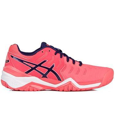 Tênis Asics Gel Resolution 7 Pink e Marinho-34