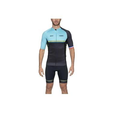 Camisa Ciclismo Masculin Woom Supreme Velo Azul 2020 Tamanhos