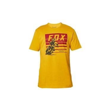 Camiseta FOX Advantage Mostarda