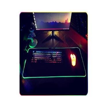 Imagem de Mouse Pad Gamer Extra Grande Led Rgb 80x30cm Mousepad Pc Ps4  - 2