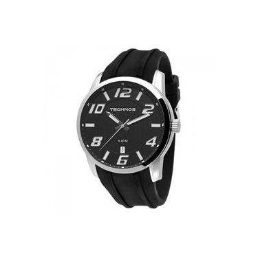 99fb08b51808a Relógio Masculino Technos Performance Racer 2315zy 8p 45mm Silicone Preto