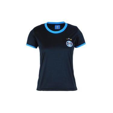 Camisa Baby Look Grêmio Original Feminina Bordada Torcedor Preto