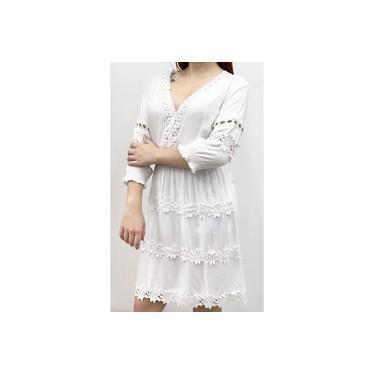 Imagem de Vestidos Branco Curto Indiana Renda Evangelicos