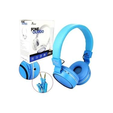 Headfone Gamer Cabo Removível 1,2m E Microfone KP-428 Knup Azul