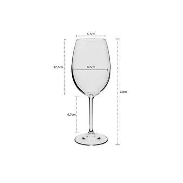 Jogo De 12 Taças Cristal Bohemia Para Vinho Tinto 450ml