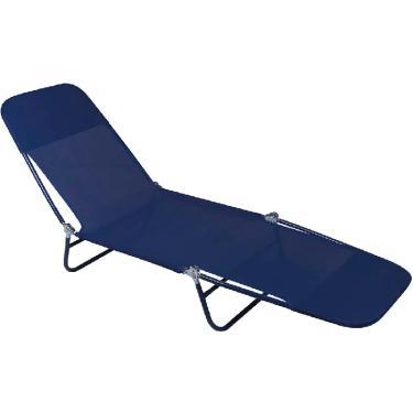 Espreguiçadeira Cadeira De Praia Têxtil Azul - Mor