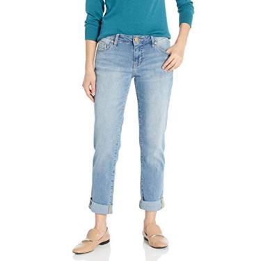 Calça jeans feminina Jag Jeans Alex Boyfriend, Vienna, 0