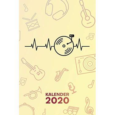 Kalender 2020: A5 Party Terminplaner für Disc Jockey mit DATUM - 52 Kalenderwochen für Termine & To-Do Listen - DJ Herzschlag Terminkalender Heartbeat DJ Jahreskalender Disco Musik