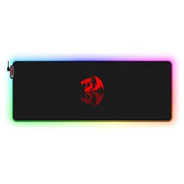Imagem de Mousepad Gamer RGB Redragon Neptune 80 X 30 cm Borda Com LED Ajuste de Iluminação Semi-Rigido - P027