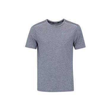 1e37720349 Camiseta Nike Tailwind Top SS - Masculina - CINZA ESCURO Nike