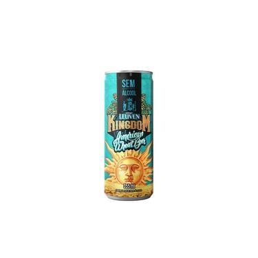 Cerveja Leuven Kingdom American Wheat Beer sem álcool Lata 350 mL - Nacional
