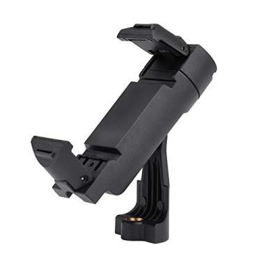 Adaptador de montagem em tripé para celular Adaskala, suporte dobrável para celular portátil, suporte para smartphone, com clipe ajustável e cabeça rotativa de interface de 1/4 de polegada