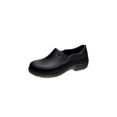 Sapato Flex Clean Croc Cozinha Chef Antiderrapante Preto 34