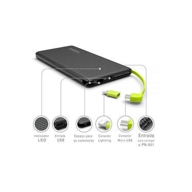 Carregador Portátil Power Bank 10000 mah Iphone Android Original Pineng
